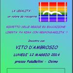 locandina D'Ambrosio maggio 2013
