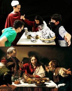 cena in Emmaus a confronto