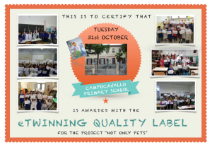 etwinning quality label Campocavallo