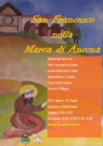 volantino mostra San Francesco 2019