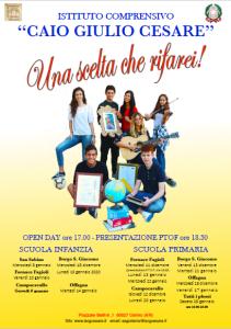 MANIFESTO iscrizioni 2020-2021 presentazione PTOF e open day - infanzia e primaria